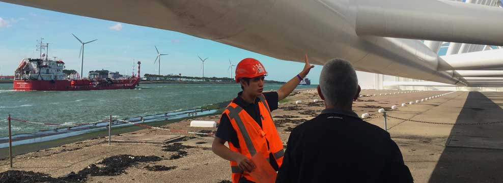 Behind the scenes at a storm surge barrier