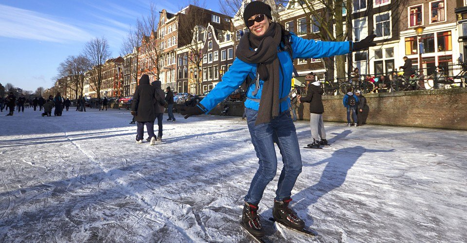 Amsterdam Private Tour Ice Skating Canals