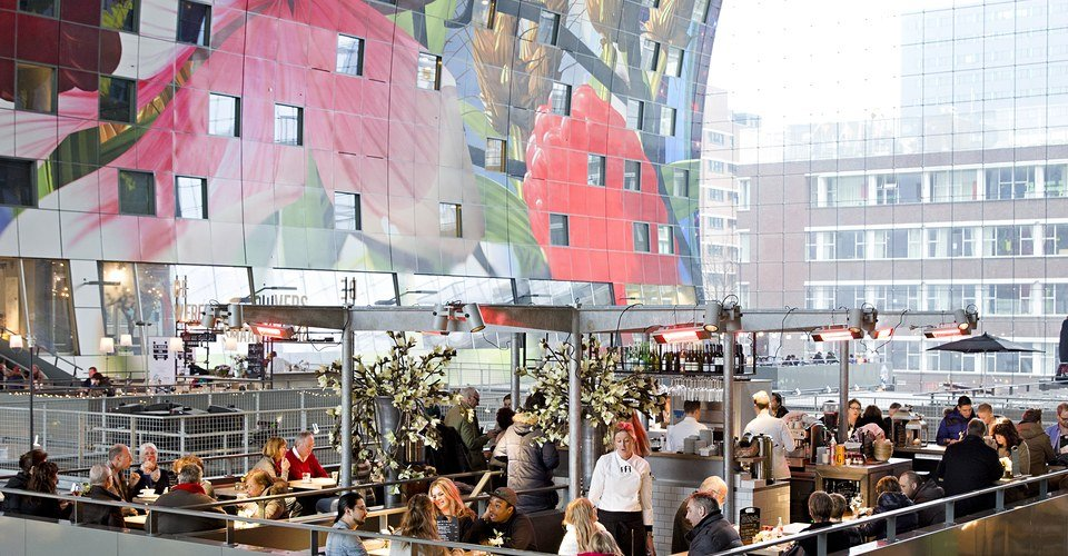 Tour Rotterdam Holland - Markthall inside
