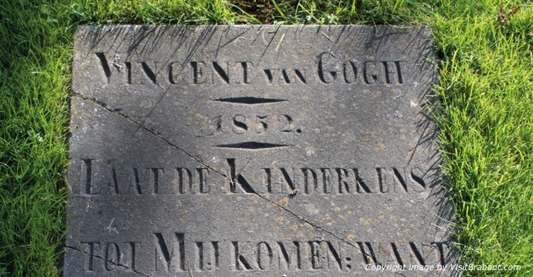 Van Gogh Tour in Brabant - gravestone Vincent Van Gogh