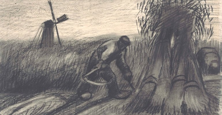Van Gogh Tour in Brabant - sketch farmers