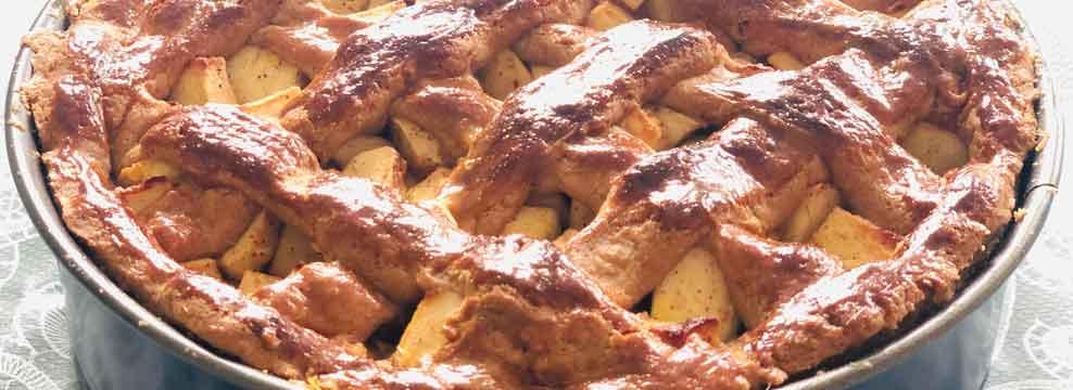 Dutch Apple Pie Lattice top